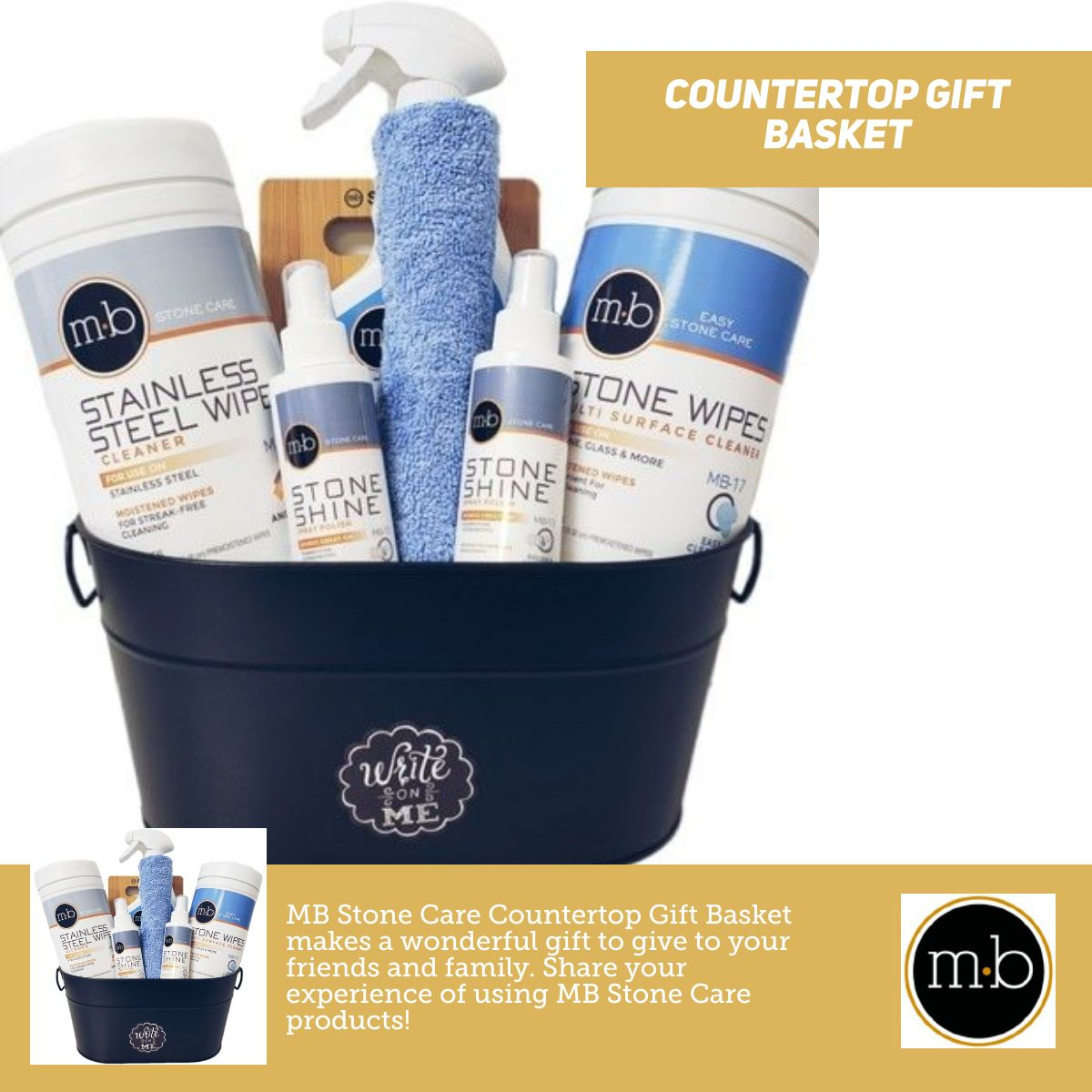 Countertop Gift Basket - Stone Care Products